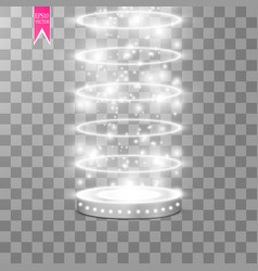 floodlights scene light effects podium vector image