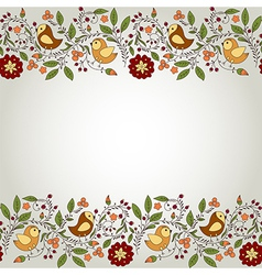 Frame for your design with birds and flowers vector image