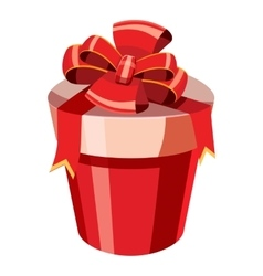Gift box icon isometric 3d style vector