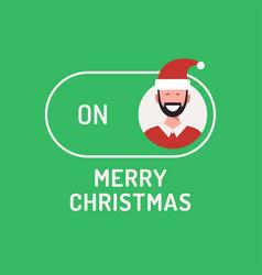 greeting christmas card creative merry christmas vector image