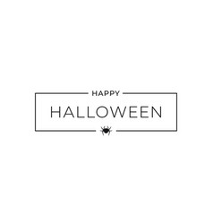 happy halloween banner on white background sign vector image