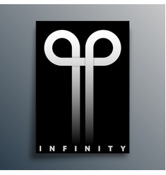 infinity loop symbol design for poster flyer vector image