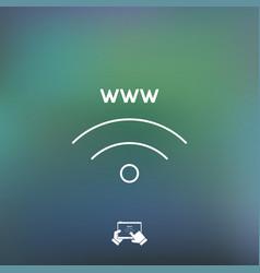 internet area icon vector image