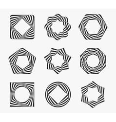 Line art modern label frames vector