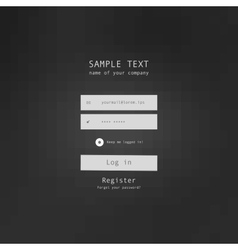 login security form sample vector image