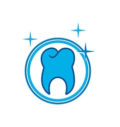 Logo Dental circle Healthy Care Tooth Protection vector image