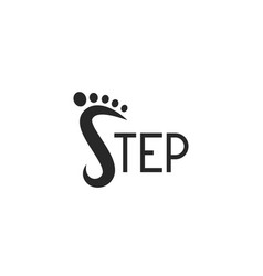 logo footprint step logotype lettering abstract s vector image