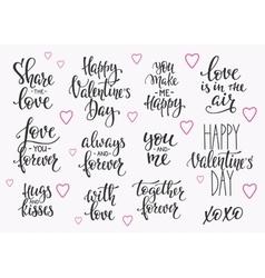 Love Valentines Day quote typography set vector