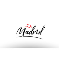 madrid europe european city name love heart vector image