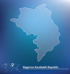 Map of Nagorno-Karabakh Republic vector