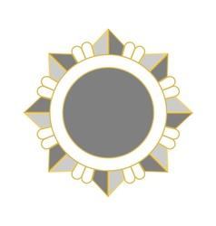 Medal award icon Silver star order vector image