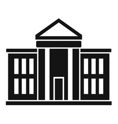 National parliament icon simple style vector