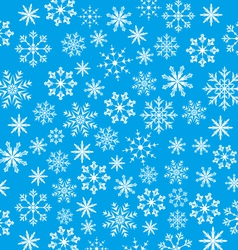 New Year blue wallpaper snowflakes texture - vector image
