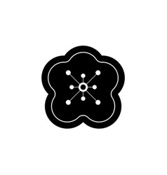 new year china flower plum blossom icon can be vector image
