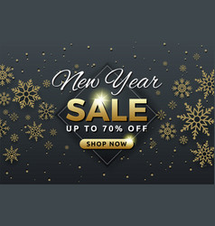 New year sale background banner template design vector