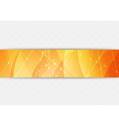 Orange bright hi-tech background vector image