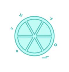 orange icon design vector image