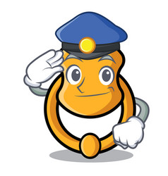 Police door knocker isolated on character cartoon vector
