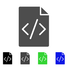 Programming script page flat icon vector