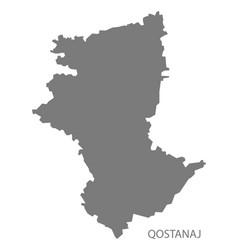 Qostanaj kazakhstan map grey vector