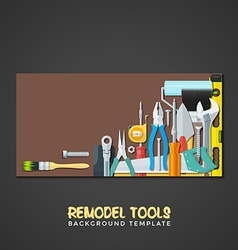 remodel tools backdrops banner templates vector image