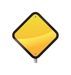 road sign yellow warning icon graphic vector image