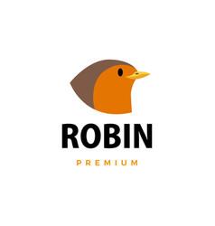 robin flat logo icon vector image