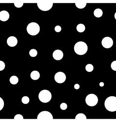 Rolka dot white seamless pattern vector image