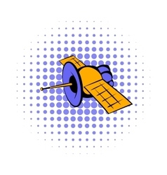 Satellite communications icon comics style vector