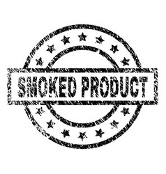Scratched textured smoked product stamp seal vector