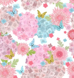 seamless texture with delicate flowers and vector image