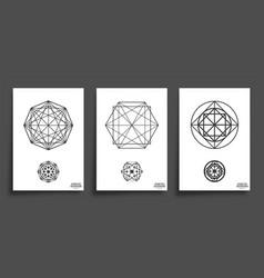 set minimal geometric shapes vector image