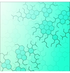 Set of digital backgrounds for dna molecule vector image