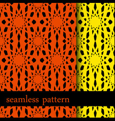 set of two seamless pattern with abstract flower vector image