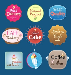 Set of vintage label design bakery vector