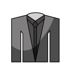 smoking suit isolated vector image