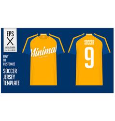 Soccer jersey football kit mockup template vector