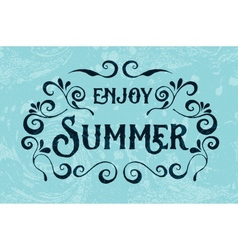 Summer holidays typography for poster vector image