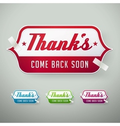 Thank you labels vector