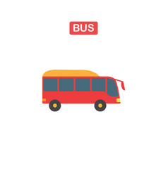thin line bus icon on a white background vector image