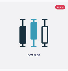 Two color box plot icon from user interface vector