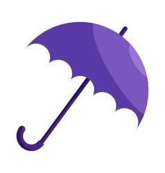 Violet umbrella icon cartoon style vector