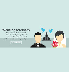 wedding ceremony banner horizontal concept vector image
