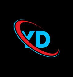 yd y d letter logo design initial letter yd vector image