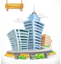 city 3d icon vector image
