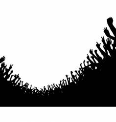 crowd foreground vector image vector image
