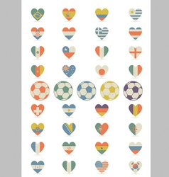 Flat Flags Heart vector image vector image