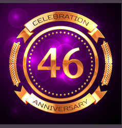 forty six years anniversary celebration with vector image vector image