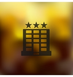 Hotel icon on blurred background vector