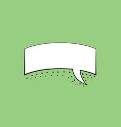 speech bubble design template vector image